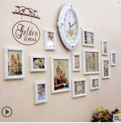 cheap clock band buy quality clock vista directly from china clock world suppliers kingart photo frame wallswall - Wall Hanging Photo Frames Designs