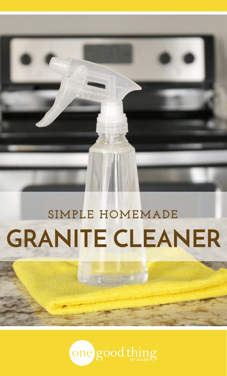 Granite countertops require special care and maintenance. Learn how to make a gentle homemade granite cleaner that will leave them sparkling!
