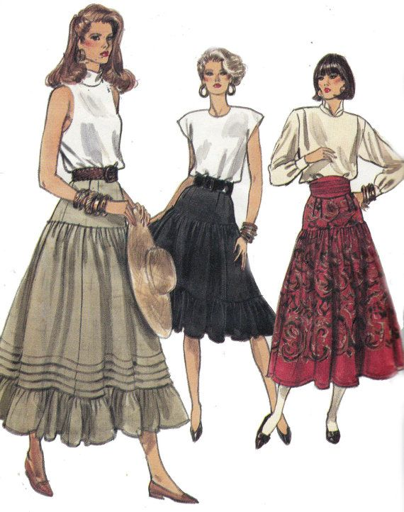 80s Skirts Vintage Sewing Pattern Vogue by allthepreciousthings, $8.50