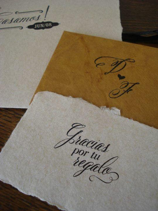 Invitaciones a Medida para el casamiento de Dai & Fede
