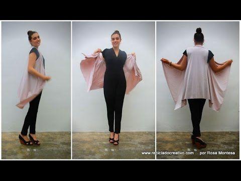 Cómo hacer un chaleco sin coser. Con un pañuelo, un trozo de tela o un f...