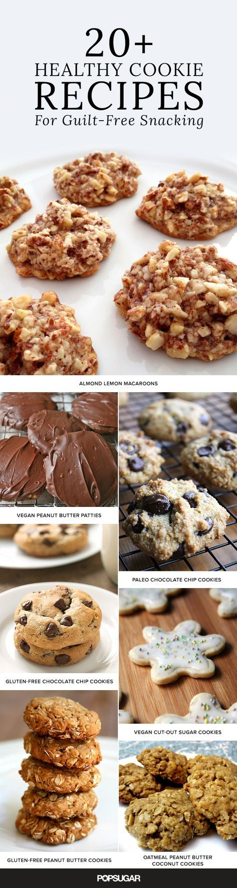 Satisfy your inner cookie monster with these recipes that won't kill your diet. Vegan, Paleo or gluten free? We have the cookies for you!