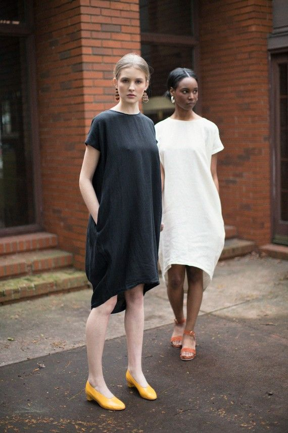 Black Crane Clothing, Wrap Dress, Kaftan, Wrap Skirts, Dresses, Tops, Linen BONA DRAG