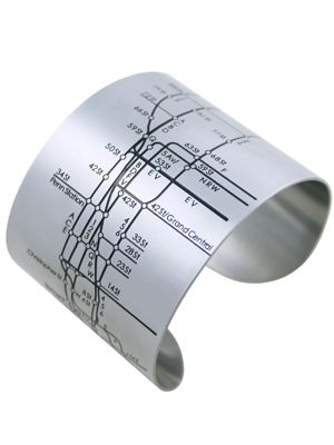 Subway Map Bracelet - very clever and thoughtful.