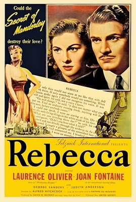 Rebecca (1940) dir. by Alfred Hitchcock.  When a naive young woman marries a rich widower and settles in his gigantic mansion, she finds the memory of the first wife maintaining a grip on her husband and the servants.