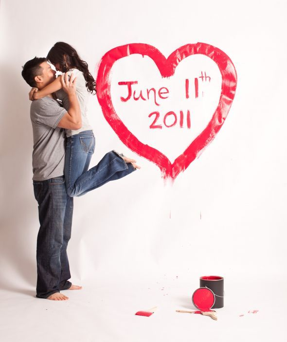 Painted Canvas, Save the Date! :  wedding save the date engagement diy Alice Eddie Std 0009