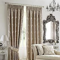 Versailles Natural Pencil Pleat Curtains