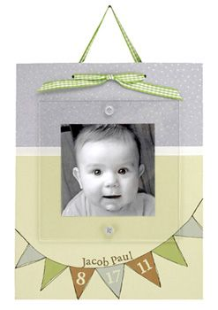 Personalized Baby Boy Picture Frame by a.i. paper design | Home Decorative Accents