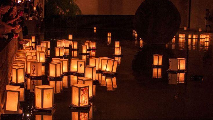 """""""Il Sole di Hiroshima"""",la cerimonia delle lanterne galleggianti al Parco del Cavaticcio"""