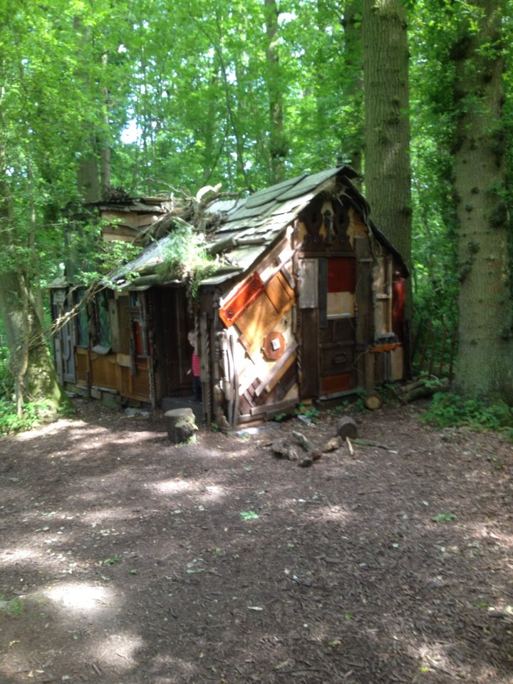 The inside out house at Packwood. Quirky little house in the wood made from furniture