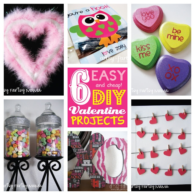 artsy-fartsy mama: 6 Easy DIY Valentine Projects Under $5