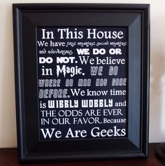 We Are Geeks Art Print. Fandom Home Decor. by GoodWitchBoutique