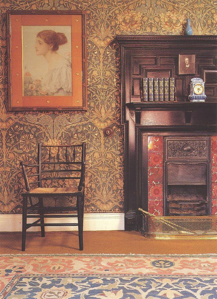 william morris wallpaper interiors pinterest william
