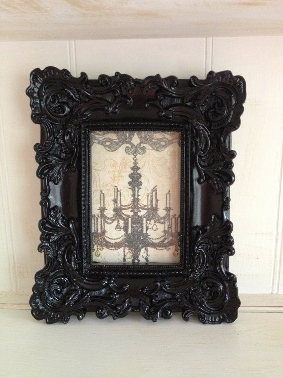 Black Ornate Frame French Chic Black Ornate Frame By