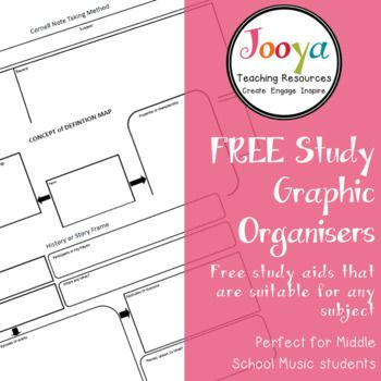 Study Aids & Graphic Organisers These printable Study Aids and Graphic Organisers are a tried and tested resource that can be used for a variety of different reasons in your classroom. In my room I have explicitly taught how to use these printable study aids and graphic organisers, then have given my students copies for