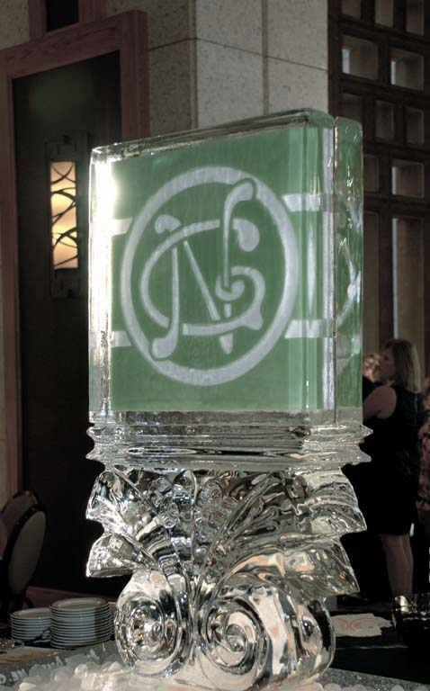 Your Monogram in Ice!