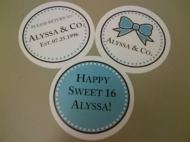 """Alyssa & Co."" cupcake toppers - for Tiffany themed birthday party @Alyssa Black"