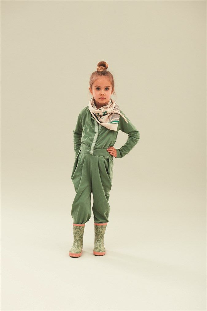 Froschi-grüner Mädchen-Overall