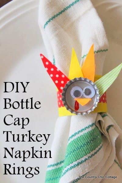 All you need is 10 minutes and some old bottle caps, and this whimsical craft will be complete. Get the instructions at The Country Chic Cottage.   - WomansDay.com
