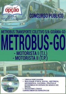 NewsApostilas : Apostilas Concurso Metrobus 2016 (ATUALIZADA)