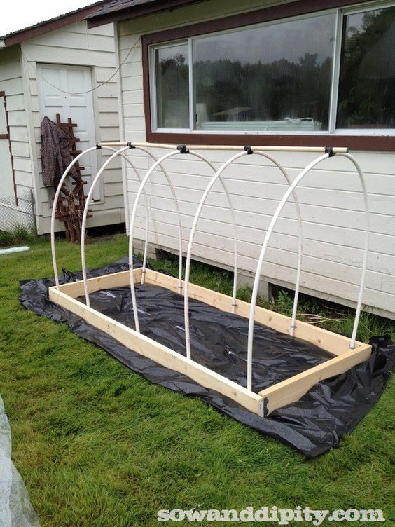PVC pipe frame for a greenhouse