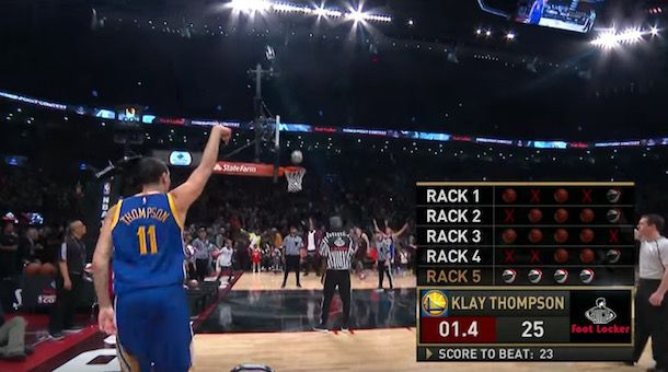 Klay Thompson Beats Steph Curry in NBA Three-Point Contest...: Klay Thompson Beats Steph Curry in NBA… #NbaAllStar #KlayThompson