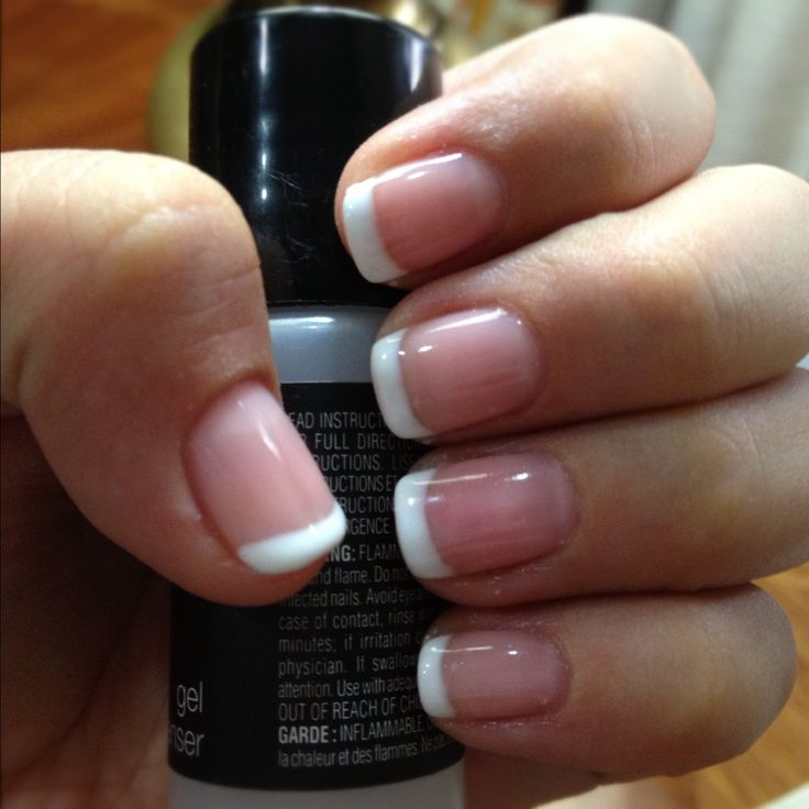 25+ best ideas about Gel French Tips on Pinterest