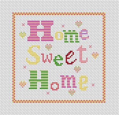 Wonky Witch Needlecraft - My Life In Stitches!: Free Home Sweet Home Cross Stitch Chart