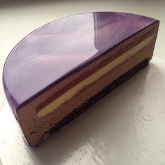 torta a specchio, olga - glassa cacao