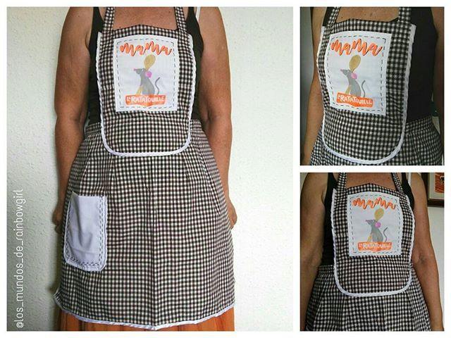 La Ratatouille! 😍 #rainbowgirlbcn #textileartist #handpainted #handmade #ratatouille #mama #apron #delantal #chef #etsy #personalizado #barcelona #ripollet