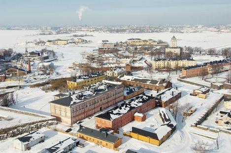Suomenlinna in winter, Suomen Ilmakuva Oy