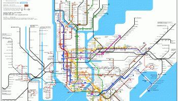 Metro de Nueva York / New York subway #infogafia #infographic #maps