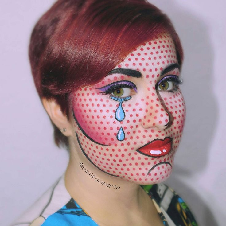pop art inspired costume makeup by MrPolychrome on DeviantArt