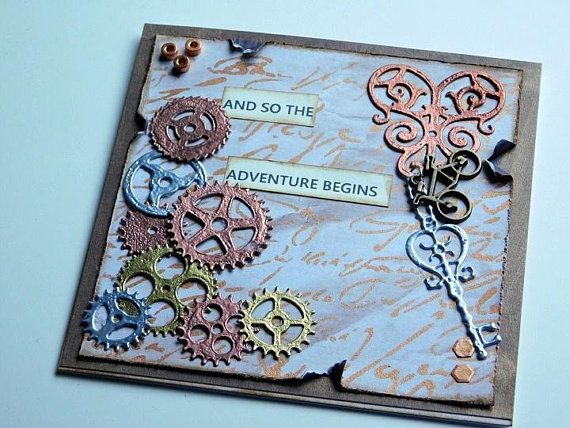 Steampunk Greeting Card Blank Steampunk Card Masculine Card Etsy Steampunk Cards Stampin Up Valentine Cards Cards Handmade