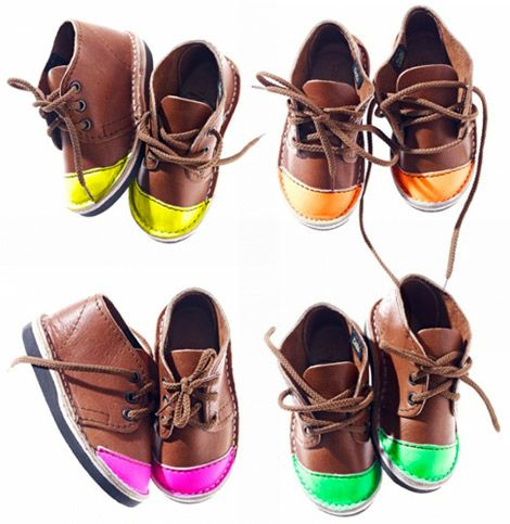 neon-tipped shoes by Schier