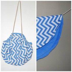 Moochi sun bag chevron blue
