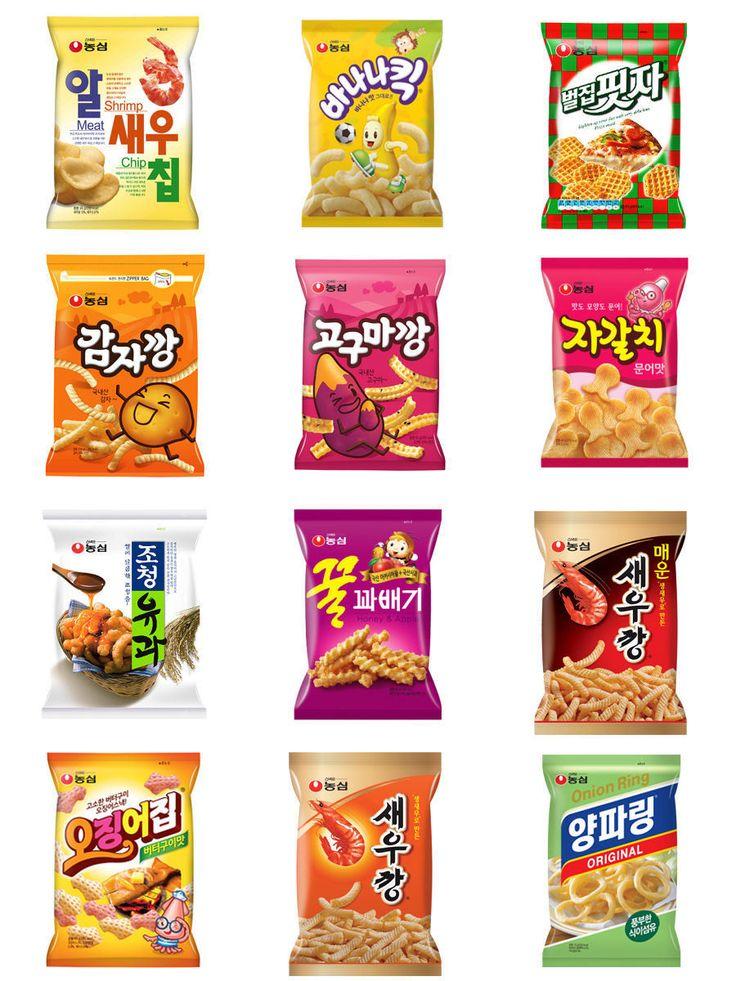 Nongshim 12 Different Kind Of Delicious And Crispy Korean Snacks Kobeaute