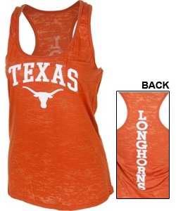 Ladies Texas Longhorns Burnout Tank