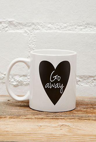 Tickled Teal Go Away Mug | FOREVER21 - 1049257260