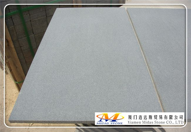 honed grey basalt