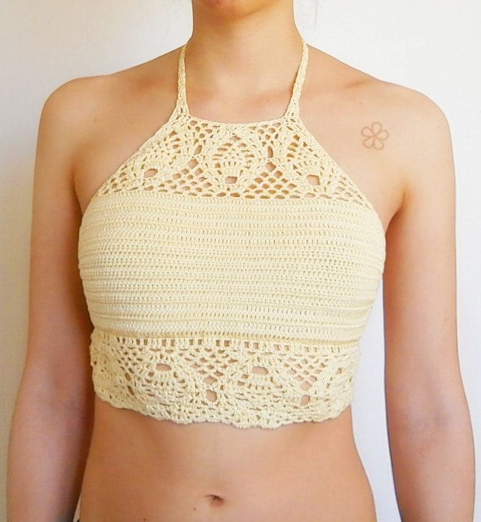 Boho crochet top pattern. Lace Festival top // The \