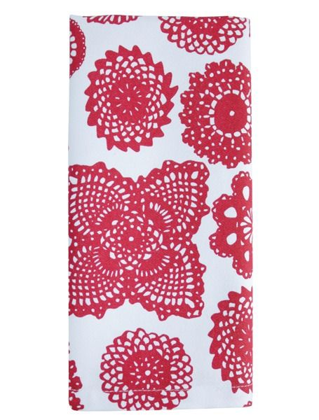 Dandi Set of 4 Napkins - Doilie Red | Krinkle - Homewares & Gfits