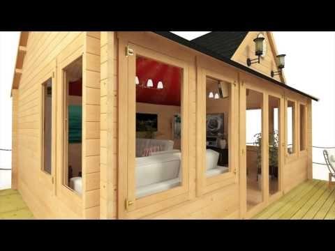 Interlocking Log Cabin Summerhouses - Take a Look | Garden Buildings Direct