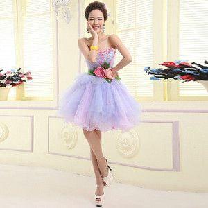お呼ばれドレス パーティードレス ウエディング レディースファッション 写真撮影 花嫁 披露宴 結婚式 卒業式 フォーマル衣装 ワンピース パープル LF028W
