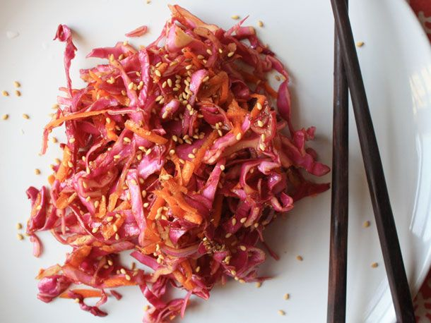 Coleslaw with chinese-style dressing, from http://www.seriouseats.com ...