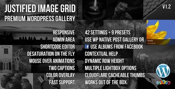 WordPress - Justified Image Grid - Premium WordPress Gallery | CodeCanyon