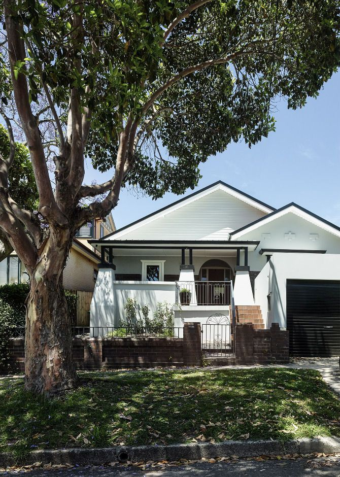 Exterior facade of a traditional bungalow near Sydney
