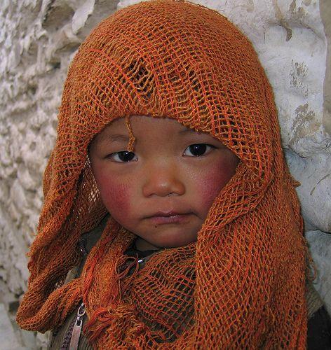 Niña de Nepal.