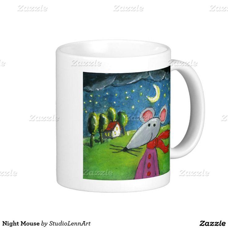 Night Mouse Classic White Coffee Mug