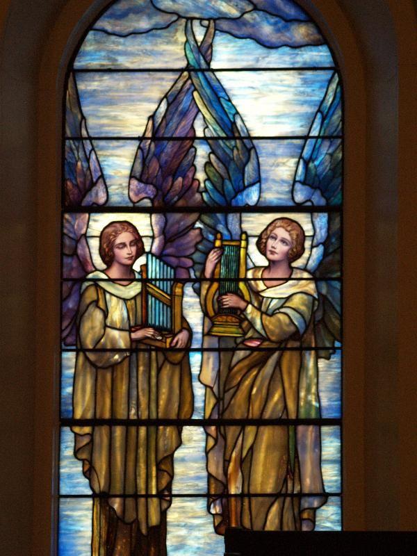 Description: Lockport, New York (NY): First Presbyterian Church: angels